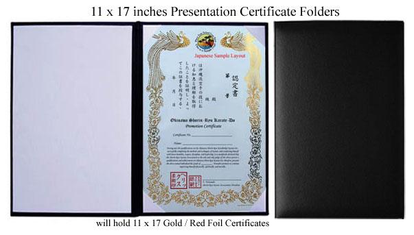 custom gold  red phoenix certificates martial arts