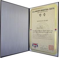 Martial Arts Certificate Folder
