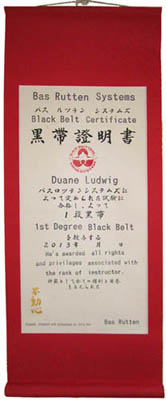 custom Japanese martial arts certificate scroll