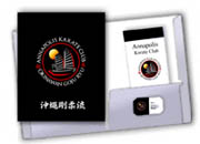 custom martial arts folders